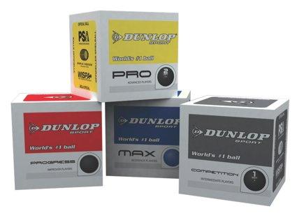 Dunlop SquashbŠlle 3StŸck alle Farben/Geschwindigkeiten