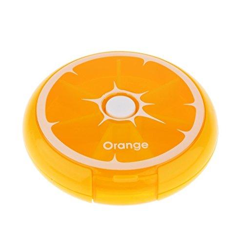 s-love Lovely Rotary Pillendose Kids Candy Gum Storage Case 7Tage Reise Tablet Organizer, Orange, Einheitsgröße (Cases Orange Tablet 7)