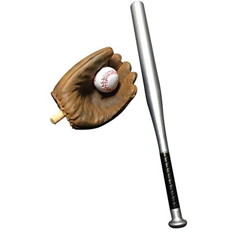 (MagiDeal 1: 6 Baseball Set Handschuh Baseballschläger Ball für 12-Zoll Action Figur)
