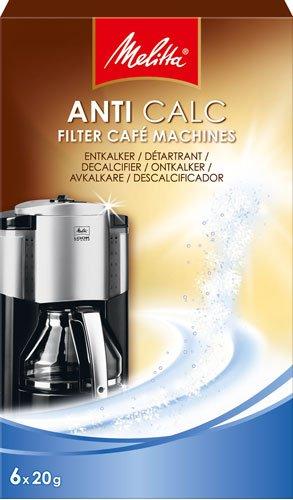 Melitta Anti Calc Filter Café Machines, Entkalker-Pulver für Filterautomaten - 120g - 2x