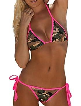 Elegant de encaje camuflaje playa Bikini de la mujer