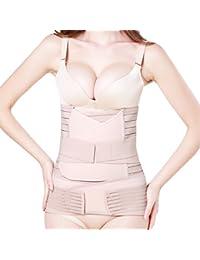 Tirain Fajas Postparto Soporte Transpirable Elástico Vientre Recuperación Vientre / Cintura / Pelvis Cinturón Shapewear para Mujer 3 en 1