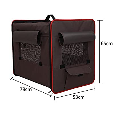 Petsfit Light Fabric Portable Strong Pet Crate, Foldable Pet Carrier, Soft Kennel with Fleece Mat,Grey Color from Xiamen JXD E-commerce Co., Ltd