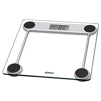 41Wgy6M255L. SS324  - Bomann PW 1417 CB - Báscula de baño digital de cristal, medición 150kg y 100g, transparente, lcd