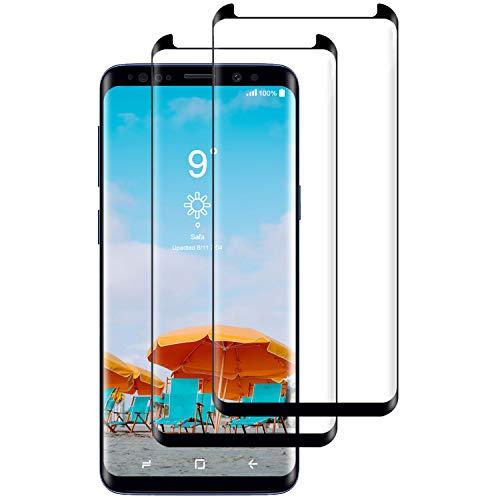 CNXUS [2-Pack Cristal Templado Compatible con Samsung S9 Plus,...