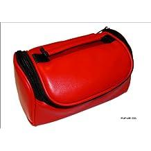 Color rojo y Negro Funda de piel sintética con tapa además de para llevar la bolsa para la compra para la JVC Full HD Everio GZ-HM445REK y cámaras de vídeo