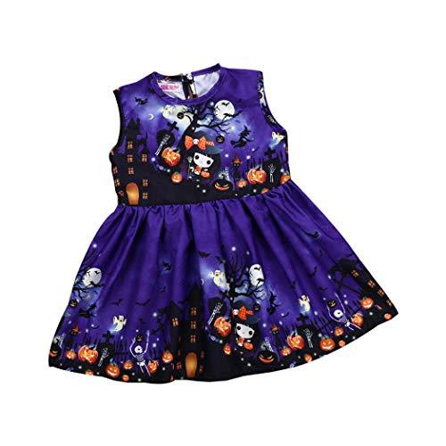 Byste_halloween tutine e body neonato,costume carnevale bambina,bambino pagliaccetto in cotone ragazze ragazzi pigiama neonato tutina fumetto outfits,24 mesi,viola