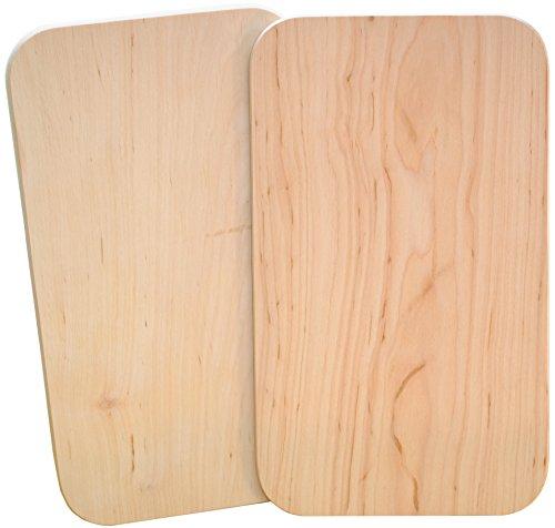 Kaltner Präsente Geschenkidee - Brotzeitbrett Jausenbrett Brett aus Holz Erle natur unbehandelt Set 2 Stück