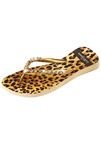 LOLLI QUEEN Damen Zehentrenner SAVANNA LEOPARD Leopard