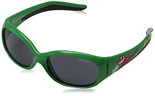 Alpina Kinder Sonnenbrille Line Flexxy Outdoorsport-Brille, Green Plane, One Size (Kid-bike-helm-auto)