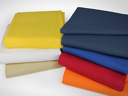 klassisches Betttuch ohne Gummizug - Einheitsgröße von ca. 150 x 250 cm in 7 Uni-Farben erhältlich, natur