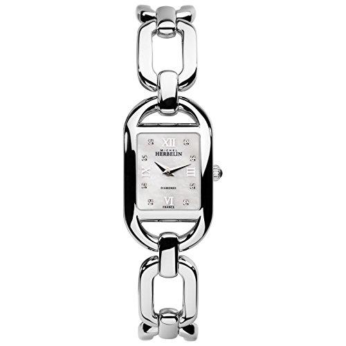 Michel Herbelin Watch Kyudo 17471/B89Women's Watch Diamond Curb Chain
