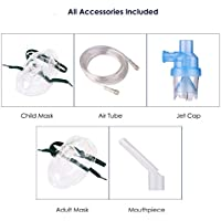 Preisvergleich für Nebuliser Zubehr für alle Maschinen, Inklusive Tube,Maske Inhalator, Kindermaske, Inhalator Mundstcke, Medizin...