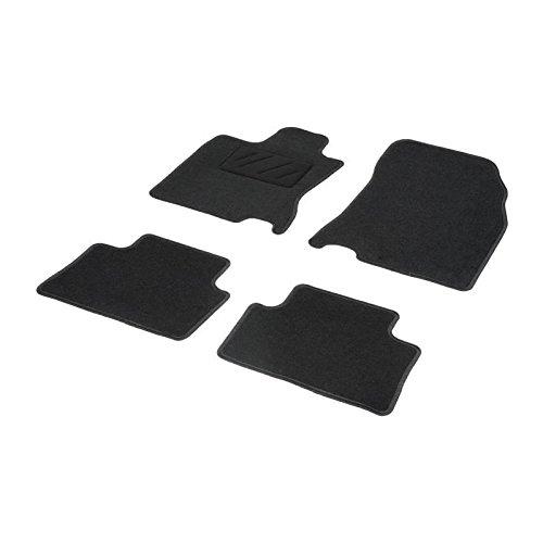 DBS 1765672 Tapis Auto - Sur Mesure - Tapis de sol pour Voiture - 4 Pièces - Moquette noir 600g/m² - Gamme One