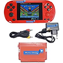 Mema Shop® High Quality Handheld 8-bit Pocket Boy Video Game Console (Red) Built-in Rechargeable Battery With Video Out Cable (Third Party Manufactured)