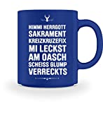 Lustiges Bayrisches Shirt - Bayrischer Humor - Bayern - Bavaria - Tasse -M-Royal Blau