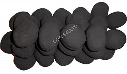 20 Black Gas fire Ceramic Pebbles Replacements Bio Fuels Ceramic Coals 4 You Packing