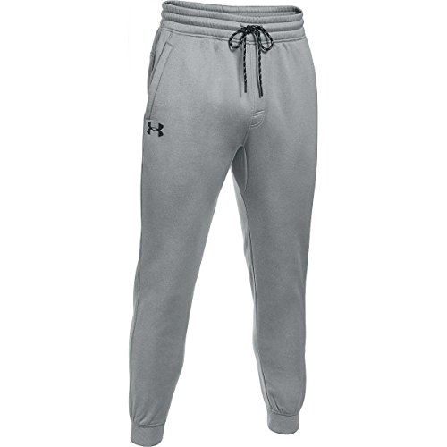 Under Armour Herren Fitness Storm Icon Armour Fleece Joggers, True Gray Heather, XL - Herren 100% Polyester-fleece