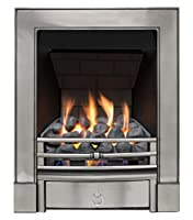 Sandhurst Slimline Radiant Gas Fire - Polished Cast - P