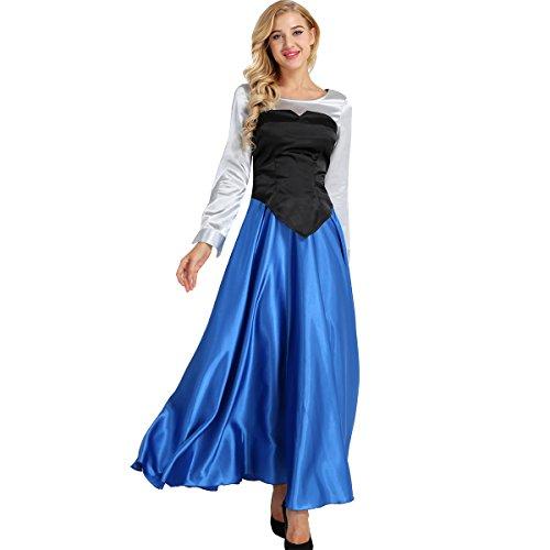 Alvivi Karneval Fasching Kostüm Damen Outfit Prinzessin Kleider Set Cosplay Party Dress Up Cartoon Fasching Märchen Verkleidung Colorful ()