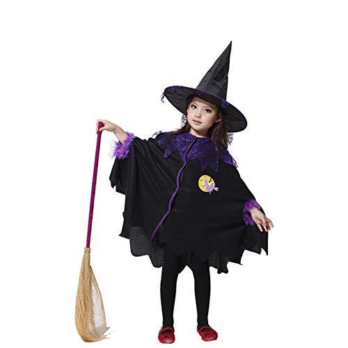 Baby Kostüm Besen - Yqihy Halloween Kostüm Kinder Cosplay Hexe Kostüm Mädchen Prinzessin Rock Princess Besen Nicht enthalten