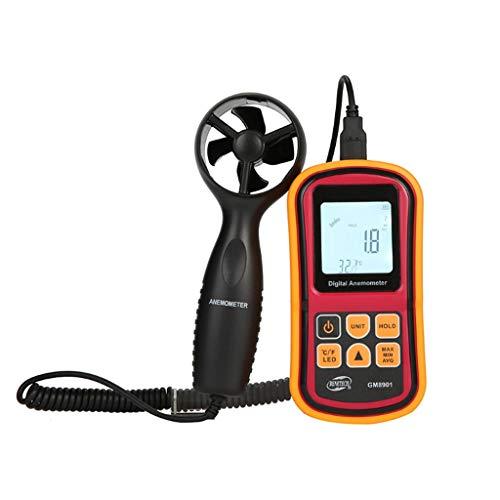Zcyg Anemometer Wind Speed Meter Digitale LCD-Luftströmungsgeschwindigkeitsmessung mit Hintergrundbeleuchtung zum Surfen im Hubschrauber Windsurfen Drachenfliegen Segeln 8800 Lcd
