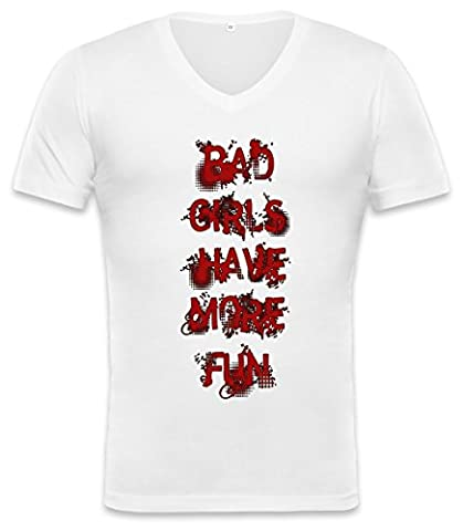 Bad Girls Have More Fun Unisex V-neck T-shirt X-Large