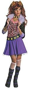 Monster High - Disfraz de Clawdeen Wolf para niña, infantil 3-4 años (Rubie