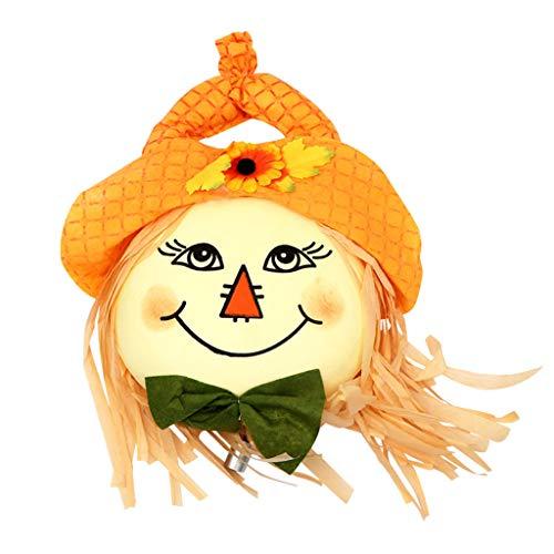 BBring Halloween Hanging Pirate Vogelscheuche Dekoration Hexe Prisoner Reaper Ghost Fenster Tür Anhänger Home Deko (Orange) (Weiß Friedhof Ghost Kostüm)