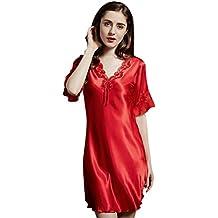 Tookang Femme Pyjamas Demi Manche Tenue D Intérieur Grande Taille Respirant  Mince Chemise De Nuit d2d6215ef55