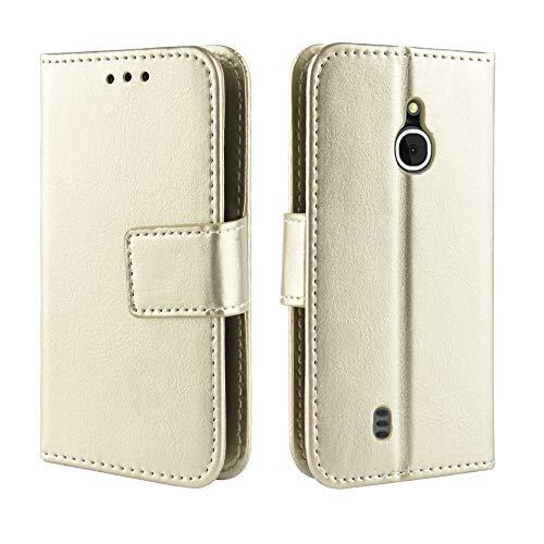 3g Flip Folio (coque Nokia 3310 3G Hülle,Flip Folio Handyhülle für Nokia 3310 3G(Gold))