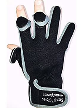 Guanti Neoprene Specialist (punta delle dita ripiegabile) in Velcro da Easy Off Gloves - Ideale per caccia, pesca...