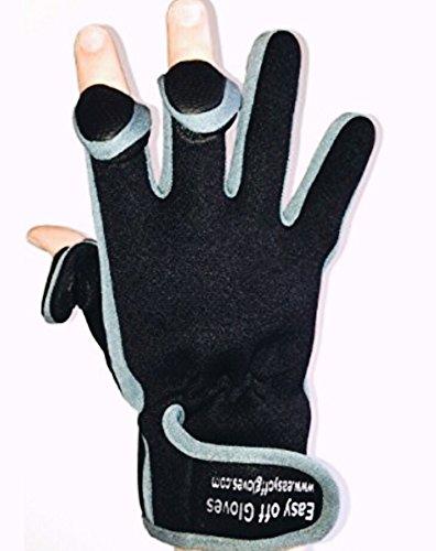 Neopren-Spezialist (Fold-Back Finger Tips) Handschuhe von Easy Off Handschuhe - Ideal für Schießen, Angeln, Gewichtheben, Gartenarbeit, Fotografie und General Work Wear. (Groß EU 10)