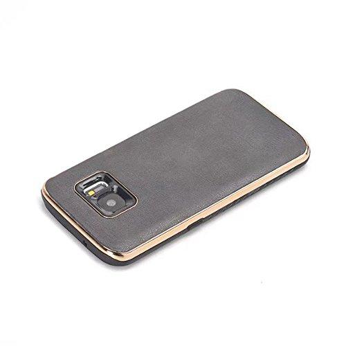 EKINHUI Case Cover Ultra Thin und leichte Retro verrückte Pferd Leder Skin Dual Layer PC + TPU Hybrid Shell Cover Case [Shockproof] für Samsung Galaxy S7 ( Color : Blue ) Black