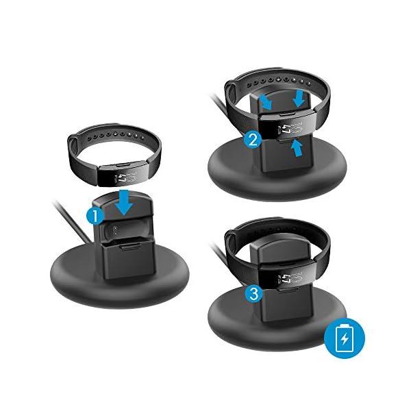 KIMILAR Cargador Compatible con Fitbit Inspire/Inspire HR Cable, 80° Base de Carga USB Repuesto Cargador para Inspire… 6