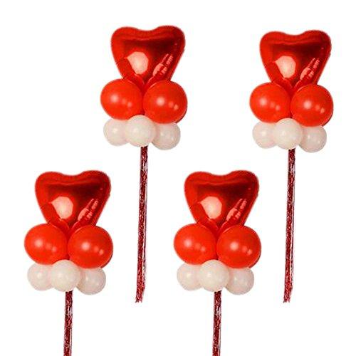 Koala Superstore Arrange in Gruppen Set 4 Latex Ballons Geburtstag Star Herzförmige Party Hochzeit
