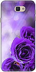 The Racoon Lean printed designer hard back mobile phone case cover for Samsung Galaxy J7 Prime. (dewy petal)