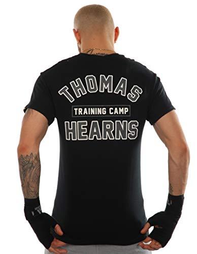 KRONK Thomas Hearns Training Camp Camiseta de Corte Regular para Hombre Negro Medio