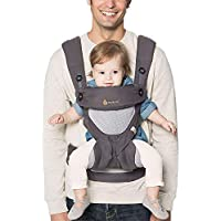 Ergobaby Baby Carrier for Toddler, 360 Cool Air Carbon Grey, 4-Position Ergonomic Child Carrier and Backpack