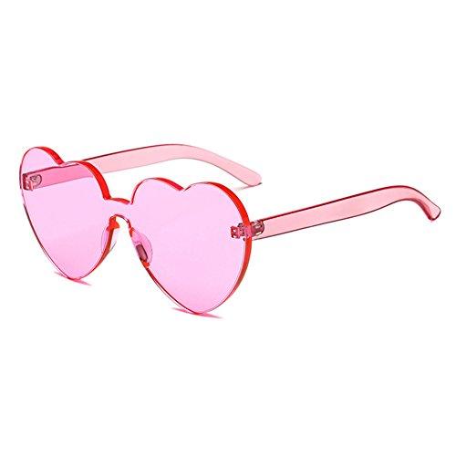 juqilu integrierte UV-Süßigkeit-Farben-Herz Sunglasse UV400 Herz-geformte Schatten-Sonnenbrille C8