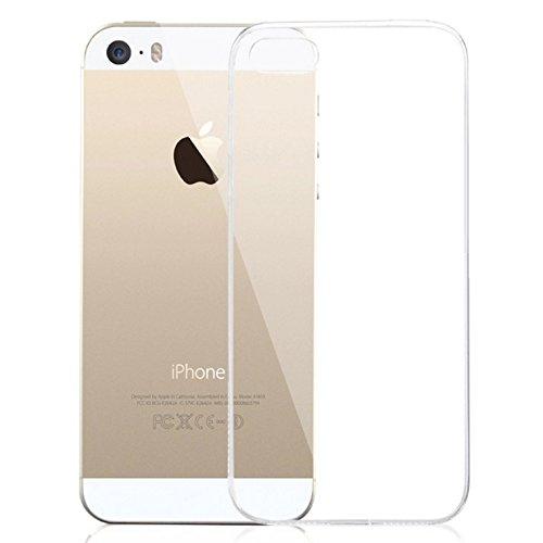 Lively Life iPhone SE Air-Cuscino Air-Custodia Slim trasparente in poliuretano termoplastico morbido, per angoli con Grainy assorbimento degli urti, realizzata in materiale ECO-Friendly, colore: trasparente, - Clear Slim, iPhone SE