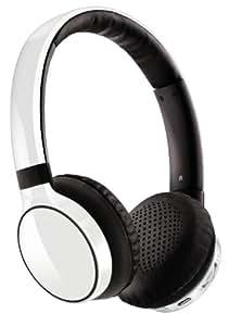 Philips SHB9100WT Casque stéréo Bluetooth 3.0 avec fonction prise d'appel pour téléphone Blanc