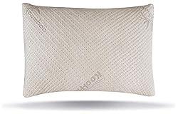 Snuggle-Pedic Ultra Gedächtnisschaumkissen-Kombination aus geschreddertem Bambus mit Verstellbarer Passform und abnehmbarem Reißverschluss Atmungsaktive (Queen)