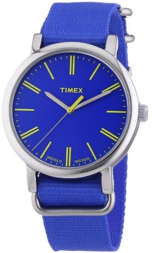 Timex - T2P362 - Montre Femme - Quartz Analogique - Eclairage - Bracelet Nylon Bleu