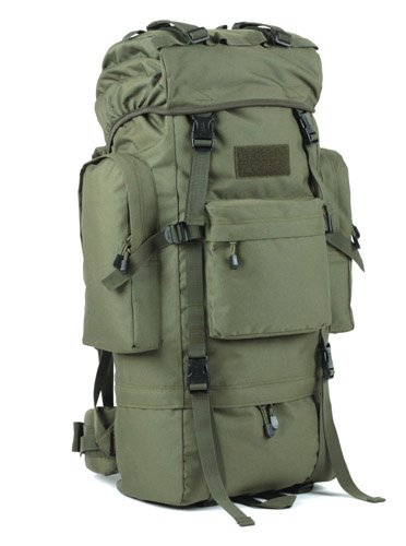 Zainetto grande capacità mimetica alpinismo zaino borse, verde militare, 100L senza Rain cover (b)100L senza cappuccio antipioggia