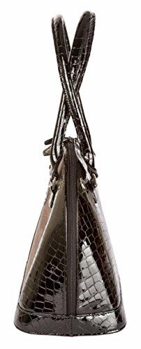 und oder Handtasche Kroko aus Sturm Nude Rindleder By Optik Weiss Schwarz ABBEY Sebastian Gefertigt Echtholz Typ Kroko Henkeltasche Räuchereiche wPFYPxvZ