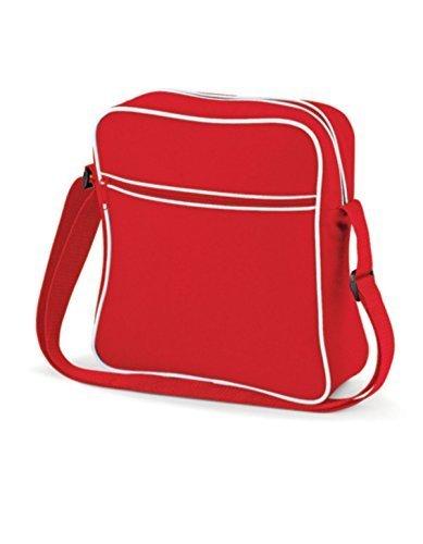 Shirtstown Retro Flight Bag, Umhängetasche, Schultertasche, Retro, Tasche classicredwhite