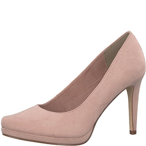 Tamaris Damen Plateaupumps 22456-21,Frauen Plateau-Pumps,Plateau-Sohle,Plateauschuhe,modisch,Abendschuhe,, Party,High Heels,Stiletto 9.5cm,Rose,EU 42