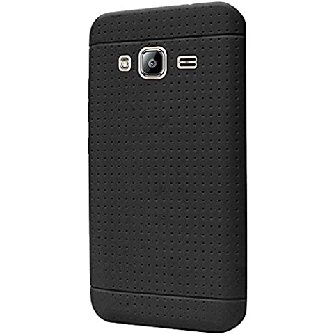 CellularOutfitter Samsung Galaxy Silicone Phone Case - Compatible with J3, J3 (2016), Amp Prime, Express Prime, J3 V, and Sky - Black
