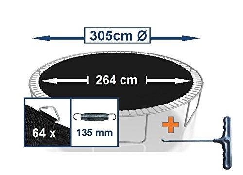 Sprungtuch Sprungmatte Ersatzteile für Trampolin Ø 305 cm 64 Ösen (Federn 13,5 cm)